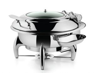 Round Induction 6L - Glass Lid, Chic Stand (Sandwich Bottom, Dripless, Hydraulic)