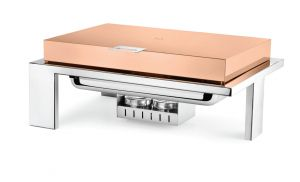 Rectangular Straight Line Rose Gold Finish Top