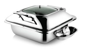 Square Induction 6L - Glass Lid,  (Sandwich Bottom, Dripless, Hydraulic)