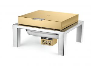 Square Straight Line Gold Finish Top