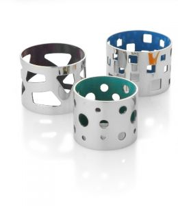 FLOCK 6 PC NAPKIN RING SET
